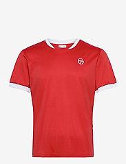 Sergio Tacchini - CLUB TECH T-SHIRT - t-shirts - red/white - 0