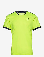 Sergio Tacchini - CLUB TECH T-SHIRT - t-shirts - yellowflou/black - 0