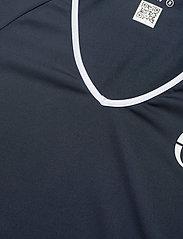 Sergio Tacchini - EVA T-SHIRT - t-shirts - navy/white - 2