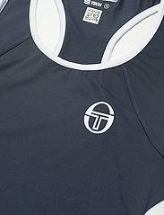 Sergio Tacchini - EVA TANK TOP - linnen - navy/white - 2