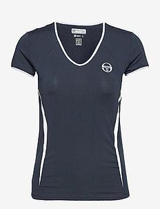 EVA T-SHIRT - t-shirts - navy/white