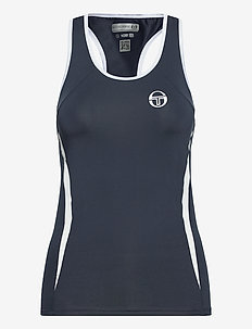 EVA TANK TOP - linnen - navy/white