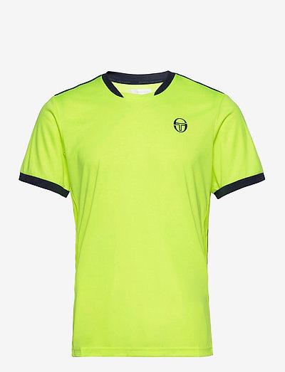 CLUB TECH T-SHIRT - t-shirts - yellowflou/black