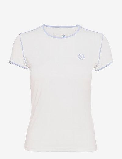 TCP TSHIRT SS WOMAN - t-shirts - 135 blanc de blanc/kentucky blue