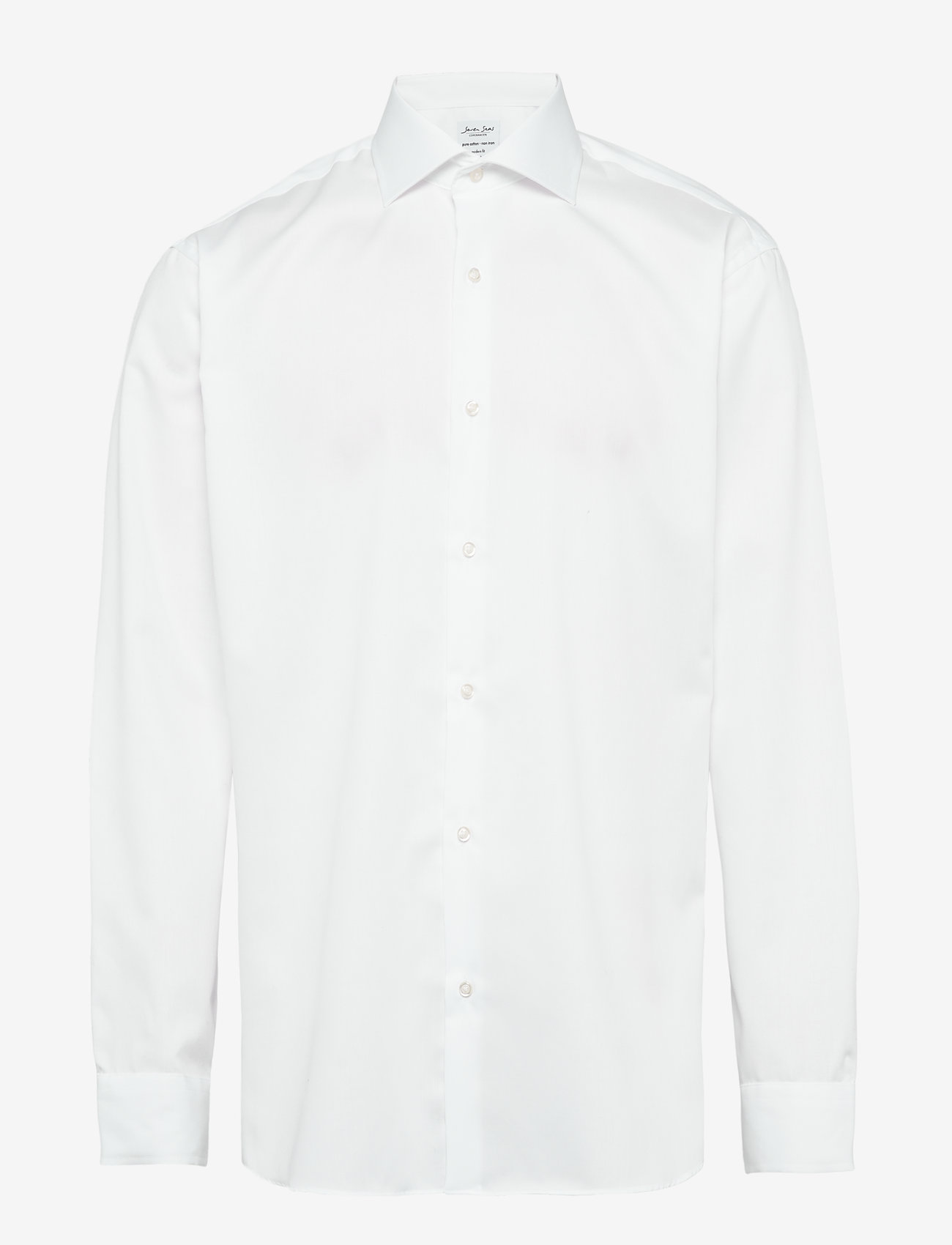 Seven Seas Copenhagen - Fine Twill - Regular Fit - basic skjortor - white - 0