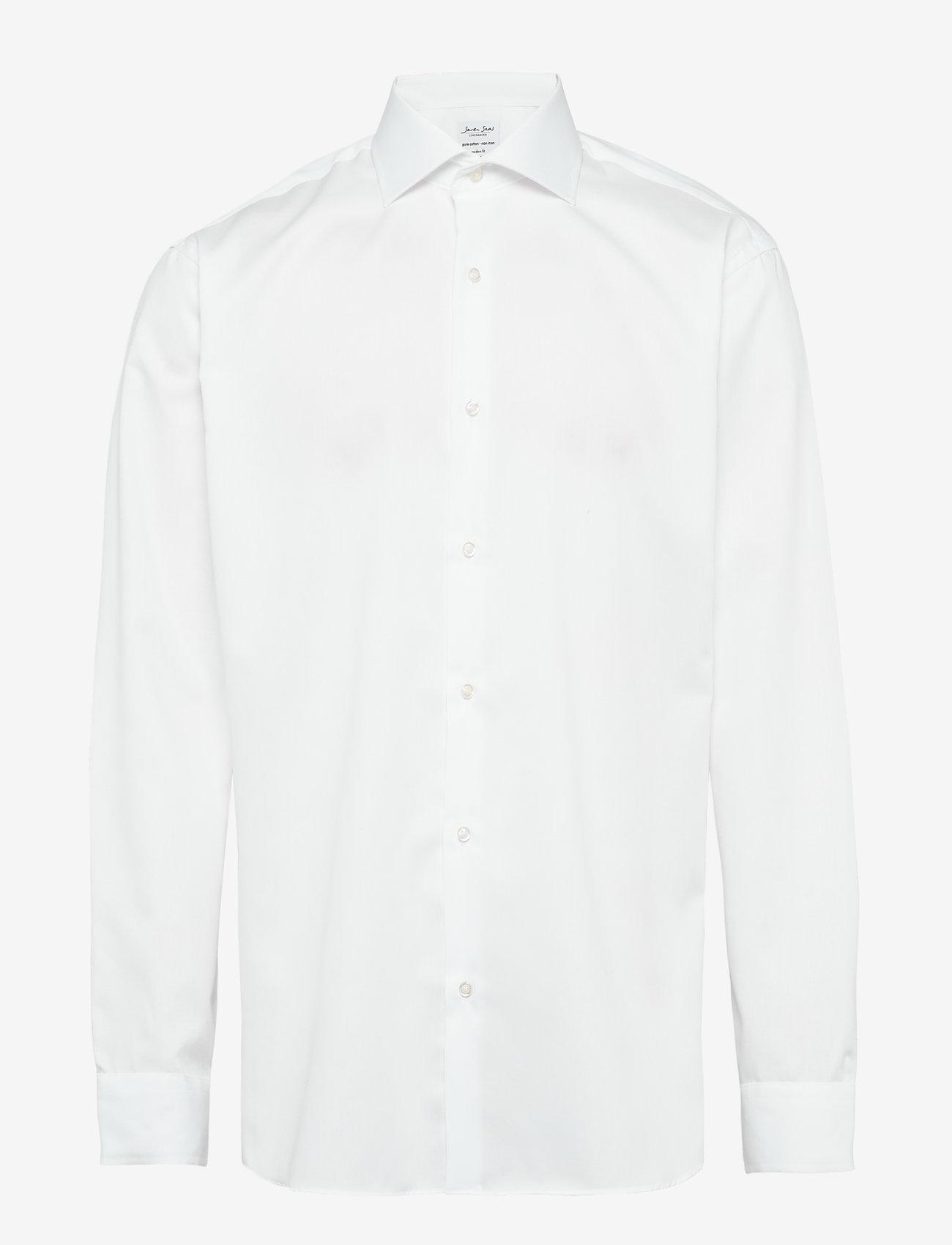 Seven Seas Copenhagen - Fine Twill - Regular Fit - chemises basiques - white