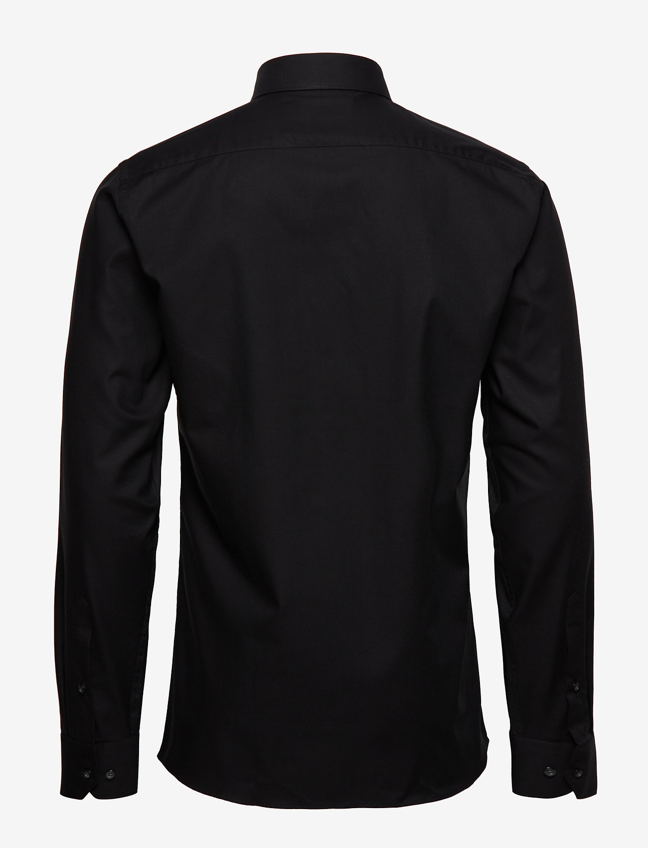 Seven Seas Copenhagen - Fine Twill - Slim Fit - basic shirts - black