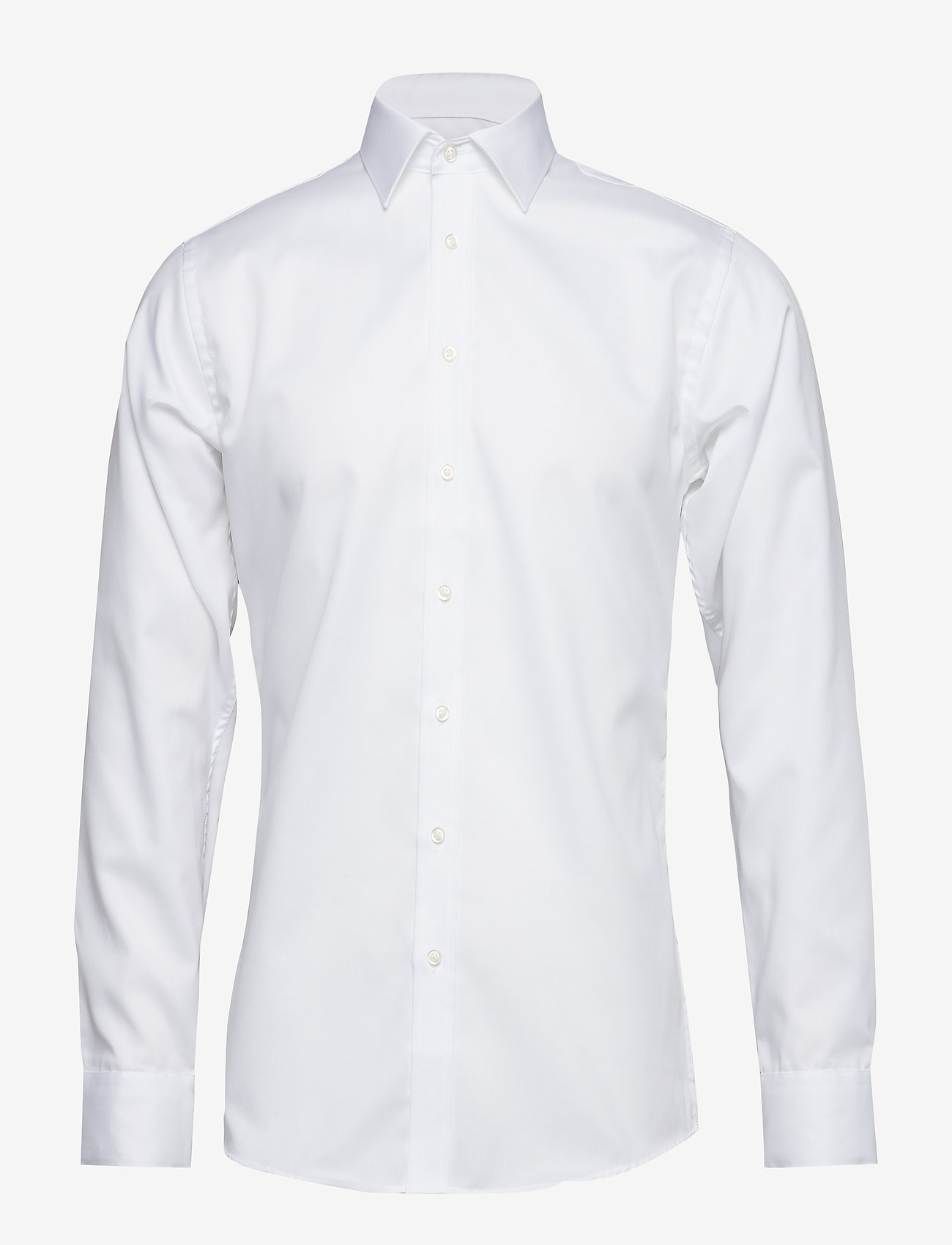 Seven Seas Copenhagen - Fine Twill - Slim Fit - basic shirts - white - 0
