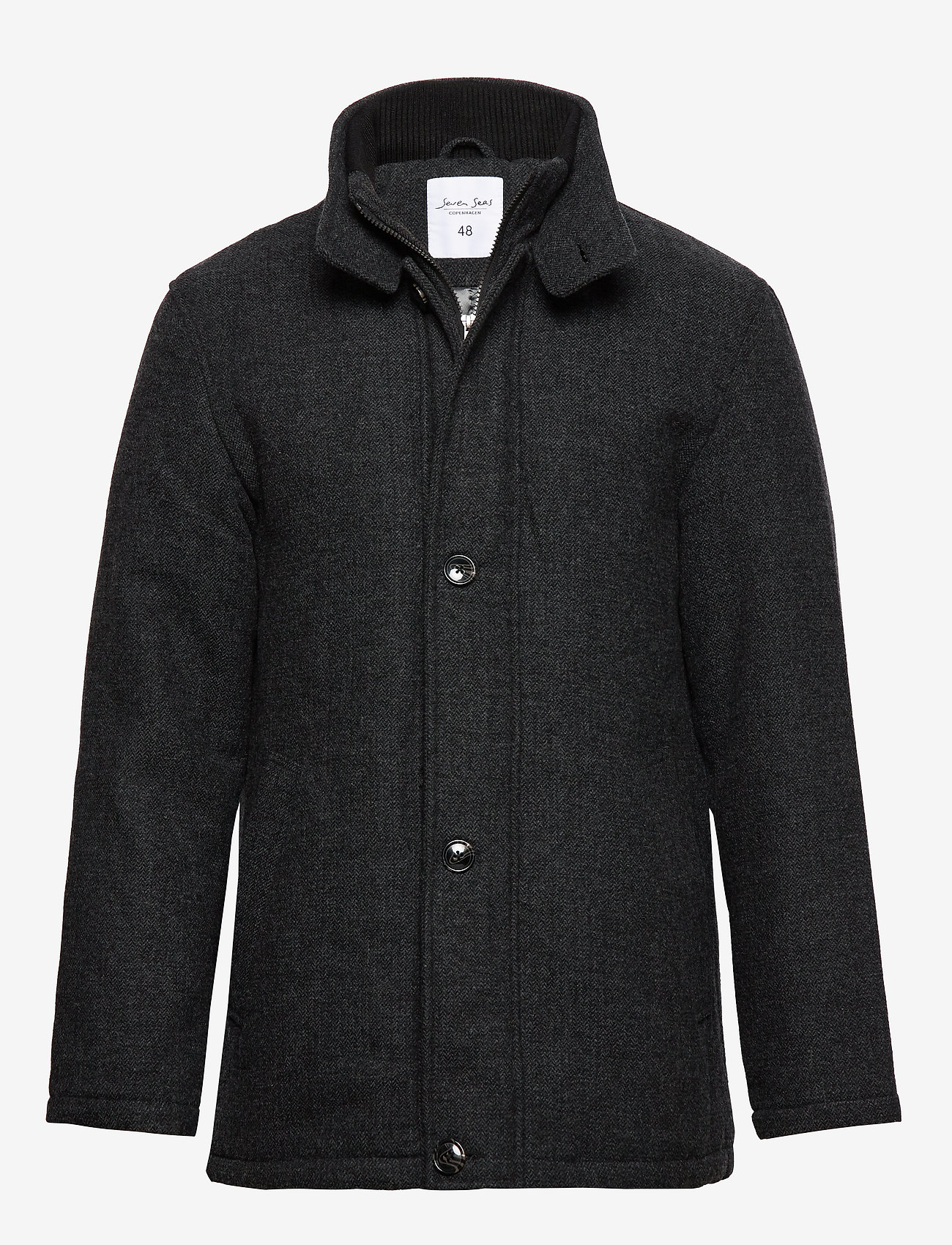 Seven Seas Copenhagen - HARRISON JACKET - wool jackets - dark grey - 0