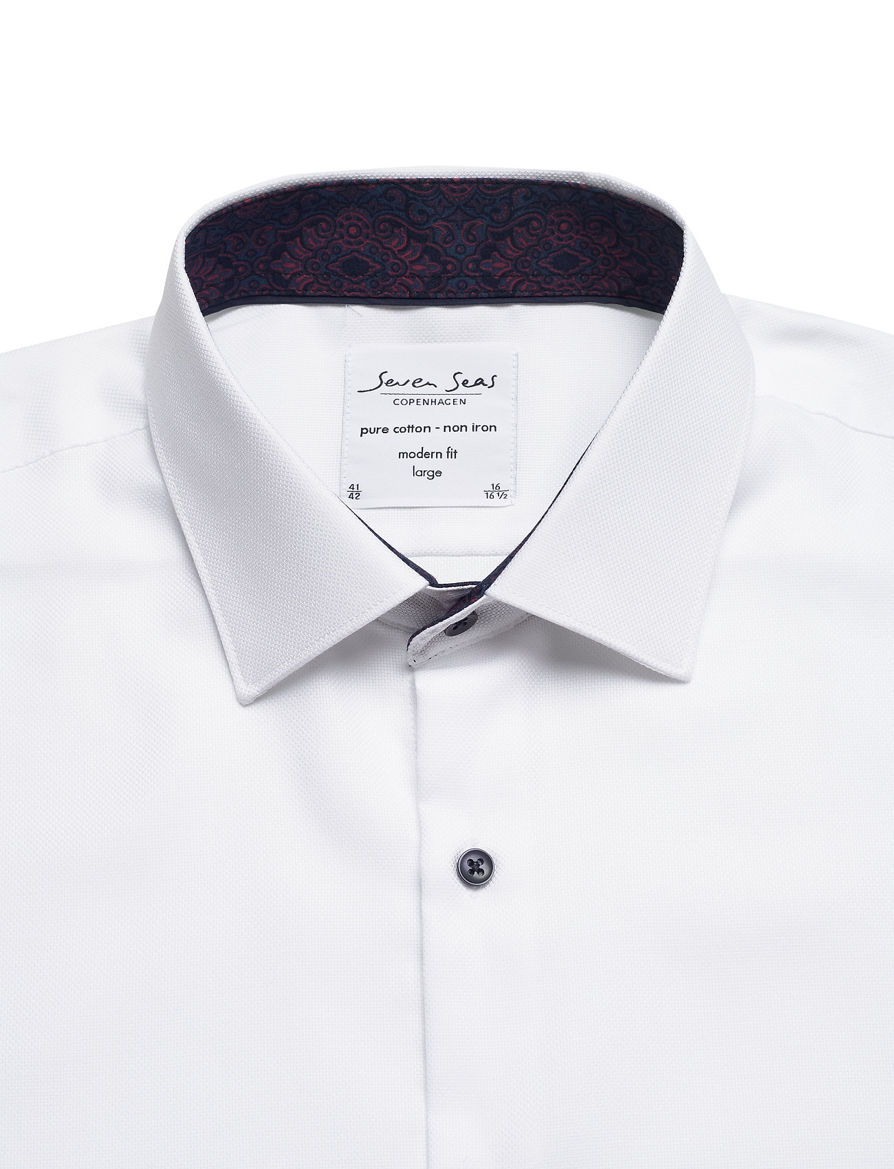 Seven Seas Copenhagen ROYAL OXFORD W/BENTLEY - Skjorter WHITE - Menn Klær