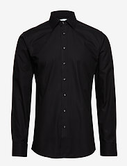 Seven Seas Copenhagen - Fine Twill - Slim Fit - basic shirts - black - 0