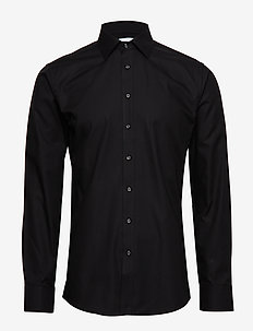 Fine Twill - Slim Fit - basic-hemden - black