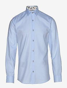 FINE TWILL W/BLOSSOM - basic shirts - baby blue
