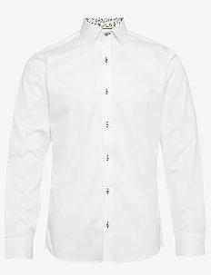 FINE TWILL W/BLOSSOM - basic shirts - white