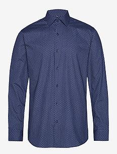 Print | Virginia - Slim Fit - business shirts - navy pattern