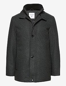 HARRISON JACKET - wełniane kurtki - grey