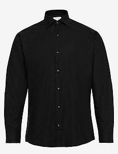 Fine Twill - Regular Fit - basic-hemden - black