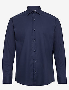Fine Twill - Regular Fit - basic shirts - navy