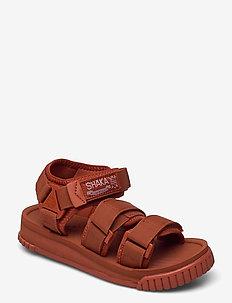 Neo Bungy - flache sandalen - dark terracotta