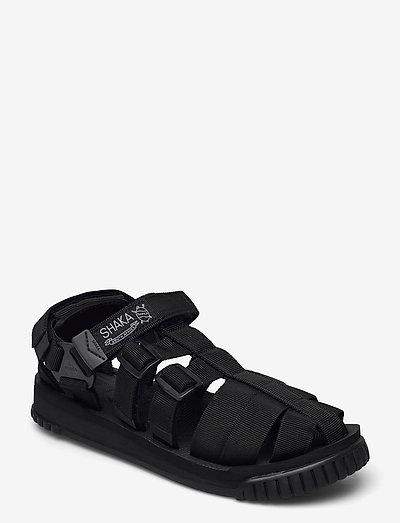 HIKER - platta sandaler - black
