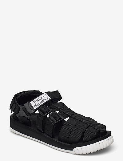 HIKER - platta sandaler - black/white