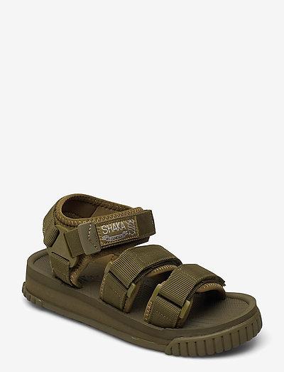 Neo Bungy - platta sandaler - army