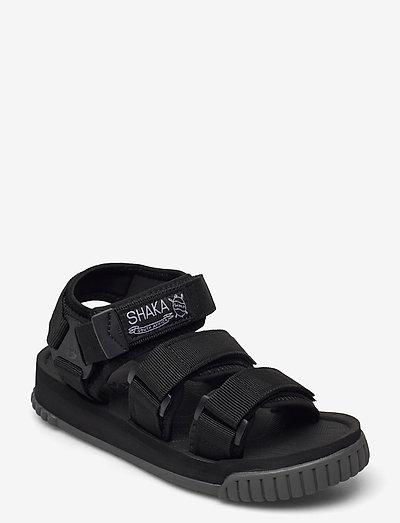 Neo Bungy - platta sandaler - black/charcoal