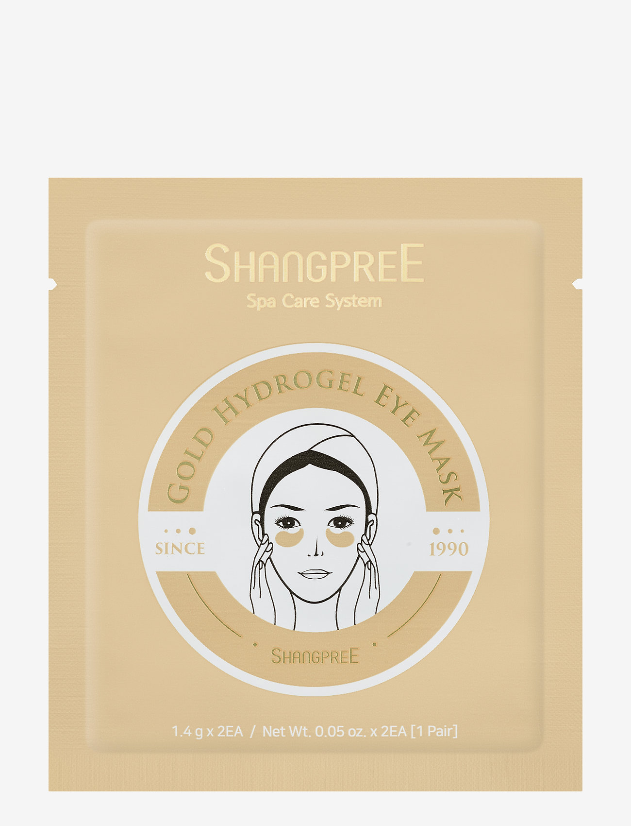 Shangpree - Hydrogel Eye Mask Gold 1 set - kasvonaamiot - clear - 0
