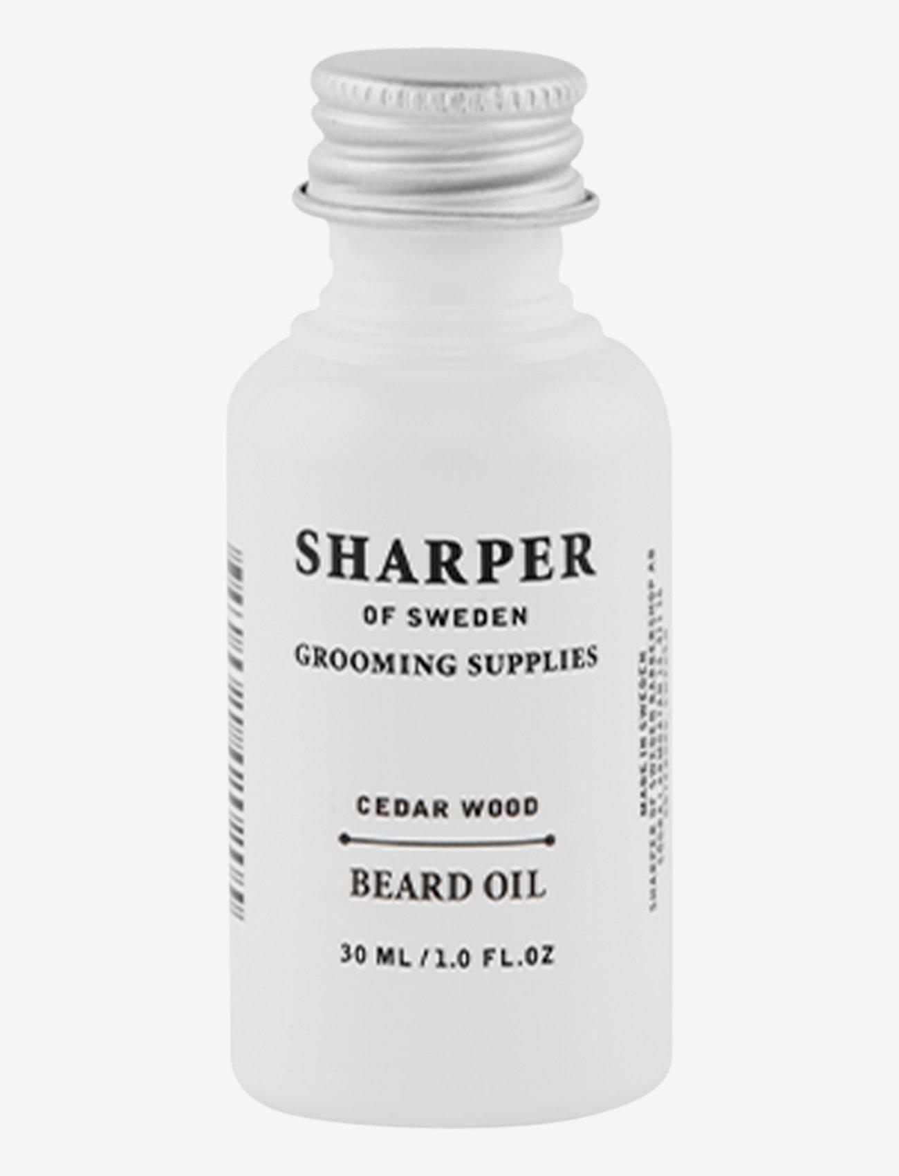 Sharper Grooming - Sharper Beard Oil Cedar Wood - skægolie - clear - 0