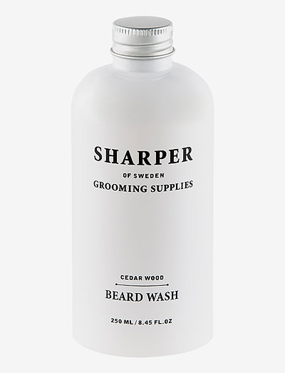 Sharper Beard Wash Cedar Wood - skägg & mustasch - clear