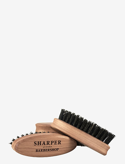 Sharper Beard Brush Travel Size - skägg & mustasch - clear
