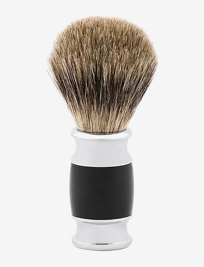 Sharper Shaving Brush Black - barberkost - clear