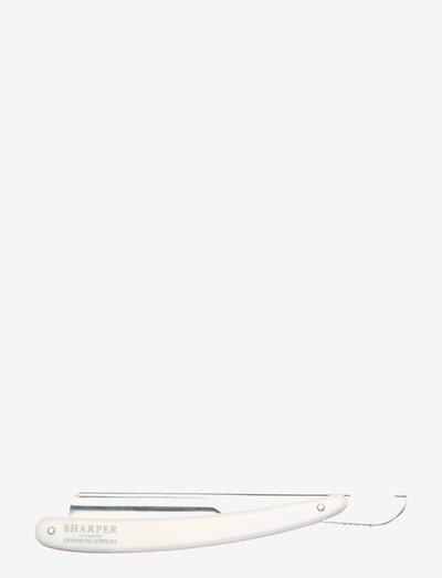 Sharper Shavette - barberskraber - white