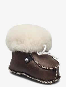 GÄVLE - vinter boots - oiled antique