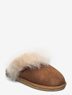 Evelina - slippers - chestnut