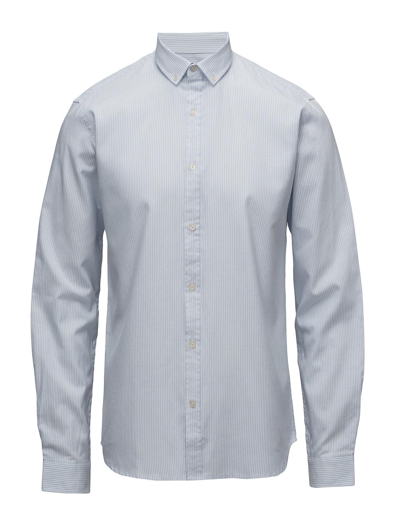 Shine Original Striped oxford shirt L/S - LIGHT BLUE