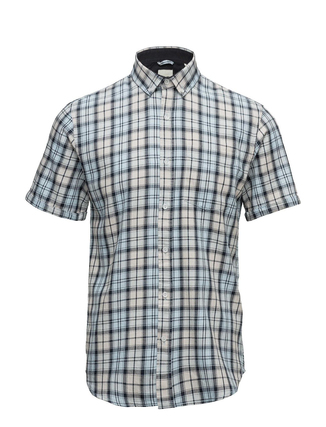 Shine Original CheckedcottonshirtS/S