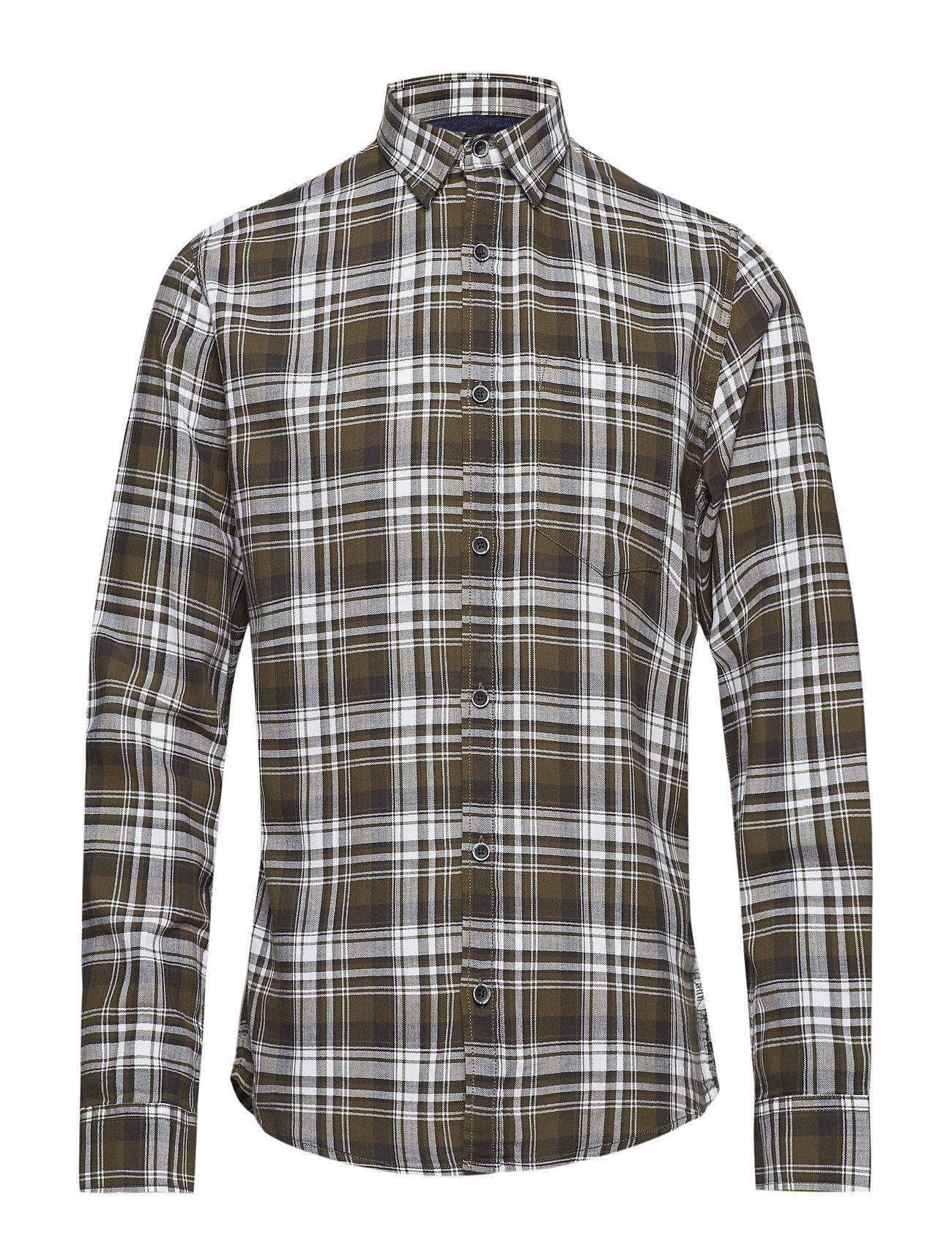 Shine Original Herringbone check shirt L/S