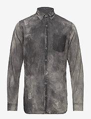 Shine Original - Denim shirt L/S - chemises shirts - black - 0