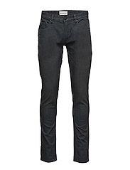 Tapered fit jeans, matt black - MATT BLACK
