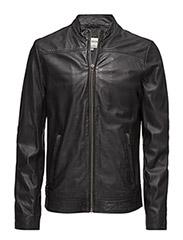 Classic sheep skin jacket - BLACK