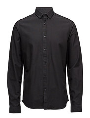 Oxford cotton shirt L/S - BLACK
