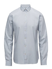 Striped oxford shirt L/S - LIGHT BLUE