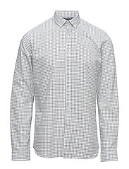 AOP oxford shirt L/S - WHITE