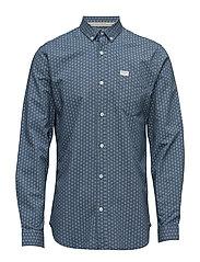 Mix design aop shirt L/S - WHITE
