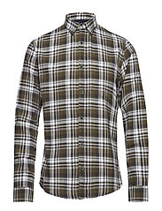 Herringbone check shirt L/S - ARMY