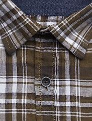 Herringbone check shirt L/S