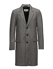 Wool coat - LT GREY MEL