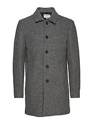 Wool coat - GREY MEL