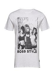 Boss printed tee S/S - WHITE